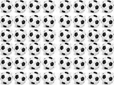 48 X Nero/Bianco Calcio COMMESTIBILE RISO WAFER CARTA COMPLEANNO CUPCAKE DECORAZIONI PER TORTA