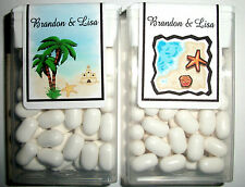 28 ~ BEACH WEDDING FAVORS TIC TAC LABELS ~ PERSONALIZED