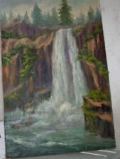 BEST OFFER OIL PAINTING SIGNED WILSON WATER FALL 24 x 36 OLD BEST OFFER