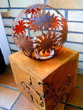 Metallsäule Würfel 18x18 Edelrost Sockel Ständer Gartenfiguren Blumensäule Rost
