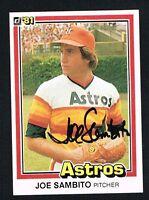 Joe Sambito #21 signed autograph auto 1981 Donruss Baseball Trading Card