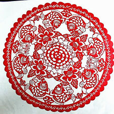 Chinese Folk Art Hand Made Paper Cut - Fish / Wealth And Prosperity AE595