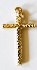 Neuware schöner 585 echt Gold Kreuz Anhänger 14 Karat Kette Anhänger 28mm x 15mm