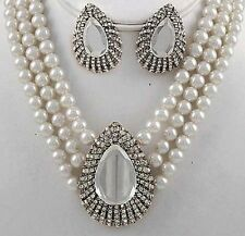 00e8076998c8 Juegos de joyas de moda Blanco Perla níquel | eBay