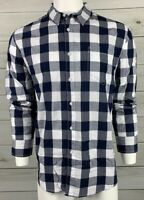 American Rag Men's Button Down Shirt XL Navy Blue White Check NWT MSRP $45 A6313