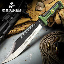 "16"" Usmc Tactical Hunting Survival Rambo Fixed Blade Machete Knife Camping Axe"