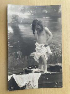 Postcard Child In Boat