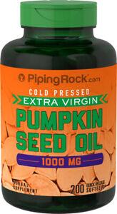 Piping Rock Pumpkin Seed Oil 1000 mg - 200 Softgels (free same day shipping)