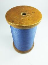 Vintage antique Wilson Bros Liverpool Stechelmans cotton spool and thread wood