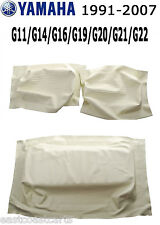 Yamaha 1993-2007 G11-G22 Golf Cart IVORY Seat Back & Seat Bottom Cover Set of 3