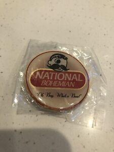 NATIONAL BOHEMIAN BEER PINBACK PIN NATTY BOH BALTIMORE MARYLAND NEW 1.5 Inch