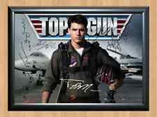 Top Gun Full Cast Tom Cruise Signed Autographed A4 Poster Print Photo Movie TV