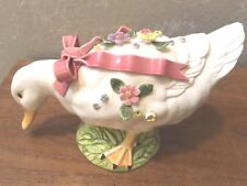 Large Duck Figurine, Extreme Floral Design, Free Shipping
