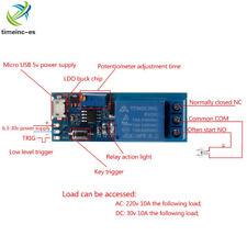 Micro USB Power Delay relay Timer control module Trigger delay switch 5V -30V ES