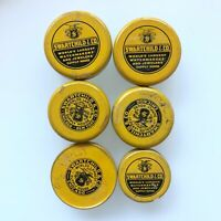 x6 Vintage Swartchild & Co Advertising Watch/Jewelry Parts Empty Tins