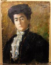 MONEY Fred (1882-1956) Portrait de Femme HST 1909 Ami de RENOIR