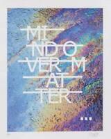 """RERO """"Mind Over Matter"""" sérigraphie sur papier nacré - signée-num/200 - 40x50cm"""