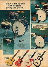 1972 ADVERT 3 PG Kid's Music Electric Guitar Disney Rocktet Trap Drum Set Piano