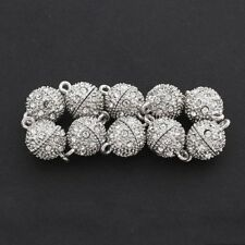 10x Ball Strong Magnetic Clasps Connectors Zirconia DIY 12mm