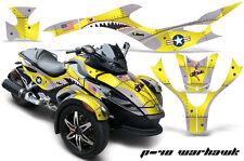AMR Racing Can Am BRP Spyder Graphic Kit Wrap Street Bike Decal WARHAWK YELLOW
