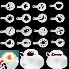 Set of 16 Barista Cappuccino Chocolate Stencil Templates Coffee Latte Duster New