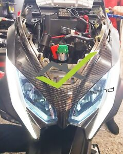 KYMCO AK550 FRONT MASK COVER CARBON
