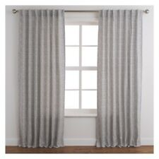 Branded Boxes Pair of Grey Curtains 160 x 230cm - Tab Top - 335416 - RRP £88