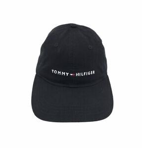 Tommy Hilfiger Classic Flag Logo Mens Cap   Black White Hat
