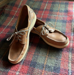 NWOB Sperry Top-Siders Men's Billfish 3-Eye Leather Boat Shoes 0799320 Sz 15M