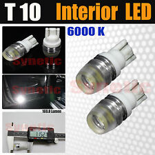 2x T10 2821 High Power 6000K White Interior/License Plate SMD LED Light Bulbs