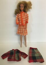 Vintage Barbie Doll Clone Lot of Two Mod Skirt Sets Snap Back Clothing