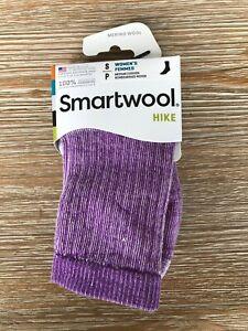 Smartwool PhD Womens Hike Merino Wool Crew Socks - Purple Heather - Small
