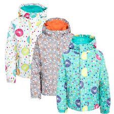 Trespass Hopeful Girls Waterproof Jacket Rain Coat with Hood