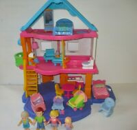 Fisher Price My First Dollhouse With Furniture & Dolls Toy Lot