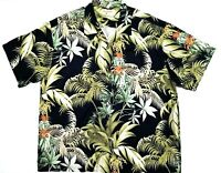 Tommy Bahama Mens 2XL Short Sleeve Button Up Silk Floral Hawaiian Shirt EUC