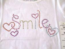 Jumping Beans 2T Studded Smile T Shirt White New