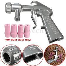 Sand Blasting Gun Air Siphon Abrasive Sand Blaster Kit W/ 4Pcs Ceramic Nozzles