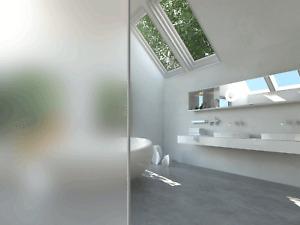 Milchglasfolie Glasdekor Fensterfolie Sichtschutz Türen Praxis Büro Bad WC Flur