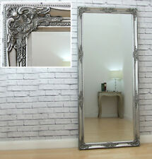 "Isabella Full Length Antique Silver Shabby Chic Leaner Wall Floor Mirror 64""x28"""
