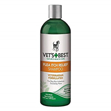 Vet's Best Flea Itch Relief Dog Shampoo | Flea Bite Relief for Dogs | Relieves |