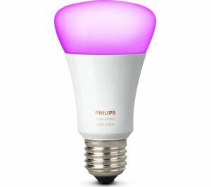 Philips Hue E27 ES Colour Screw Bulb - White & Colour Ambiance Richer Colours