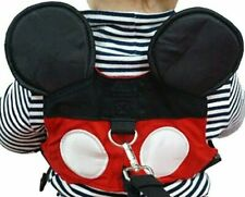 Toddler Anti-lost Belt Safety Harness w D-Ring Hook Boys & Girls Red Black Mouse