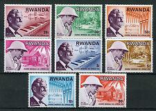 Rwanda 1976 MNH World Leprosy Day 8v Set Medical Dr Schweitzer Music Stamps