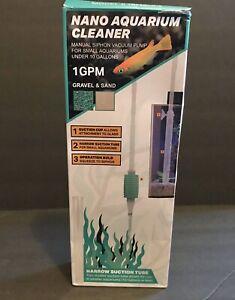 TERAPUMP Nano Aquarium Cleaner Fish Tank Gravel Sand Cleaner for Small Aquariums