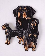 ***EMBROIDERED*** IRON ON PATCH DOG DETAILED QUALITY ROTTWEILER *FREE SHIPPING*