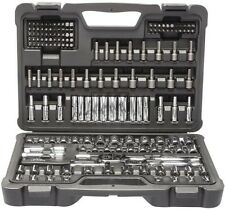 "Stanley 162 Pc SAE + Metric 1/4"" & 3/8"" Mechanics Socket Set! Tool Ratchet Deep"