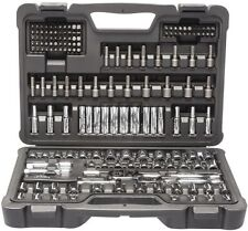 "Stanley 162 Pc SAE + Metric 1/4"" & 3/8"" Mechanics Socket Set! Tool Ratchet Deep"