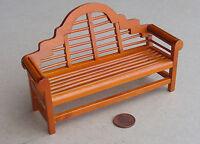1:12 Scale Wood Lutyens Bench Dolls House Miniature Garden Furniture Accessory