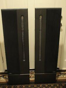 (2) 1990's Rare Vintage Apogee Centaur Minor Ribbon Speakers With Carpet Stands
