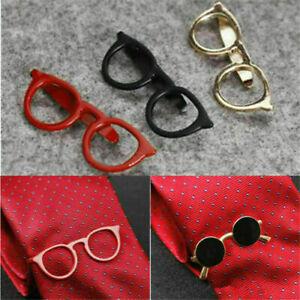 Vintage Sunglasses Shape Tie Clip Bar Necktie Pin Clamp Mens Accessories